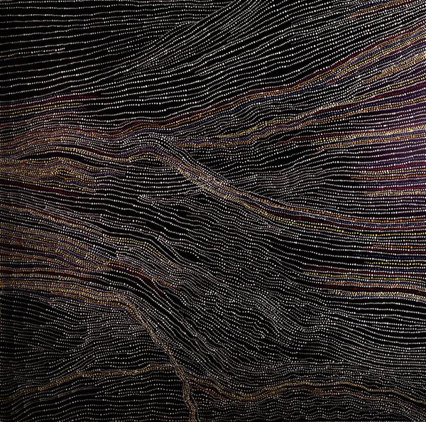 Dorothy Napangardi   Sandhills of Mina Mina Painting   152cmx122cm Gallery Gondwana 27/7/03